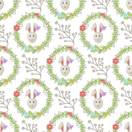 Easter decoration vector cartoon seamless pattern.