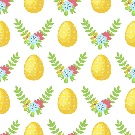 Easter vector cartoon seamless pattern background holiday decoration spring celebration traditional greeting symbols.