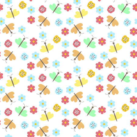 Floral pattern vector seamless background