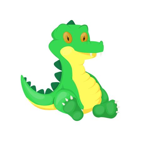 Crocodile animal cartoon alligator vector character green zoo wildlife reptile predator illustration. Cute Africa funny gator mascot comic fun lizard jungle dangerous crocodile.
