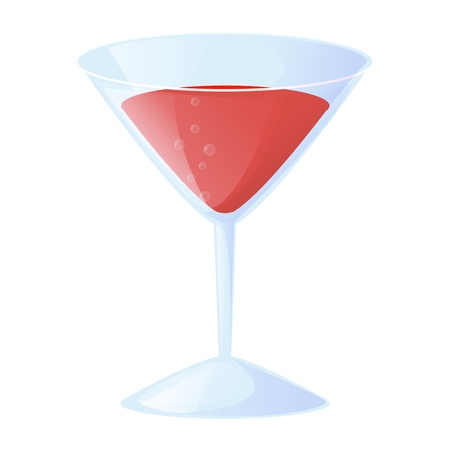 Cocktail classic glass drink alcohol beverage vector illustration.