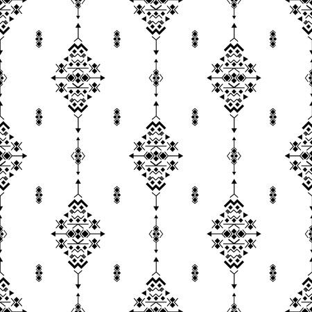 Aztec american indian pattern tribal ethnic motifs geometric vector background. Modern native american tribal motifs clothing fabric ethnic traditional design. Mexican folk fashion. Illustration