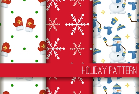 Christmas snowflake seamless pattern winter holiday gift wrap snow background vector illustration. Xmas wrapping wallpaper festive paper or fabric.
