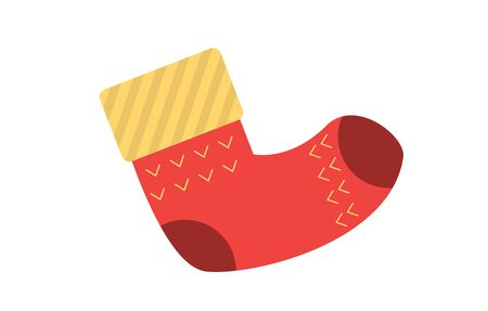 Christmas socks santa stocking secret traditional holiday decoration claus surprise vector illustration. Illusztráció