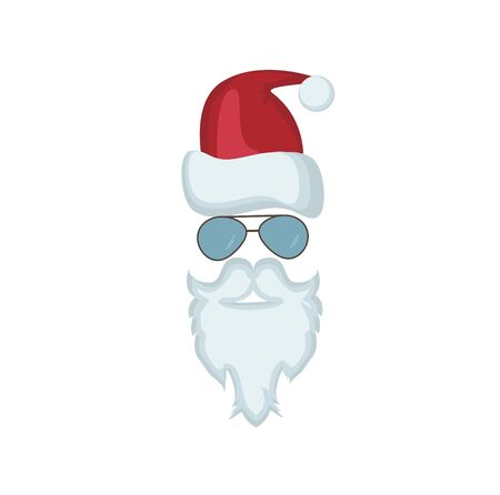 Santa Claus in glasess