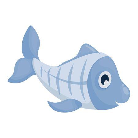 Xray Fish - Vector cartoon underwater animal illustration.