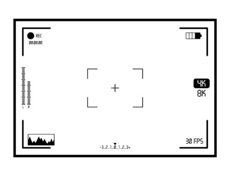 Video Camera Viewfinder Display Vector