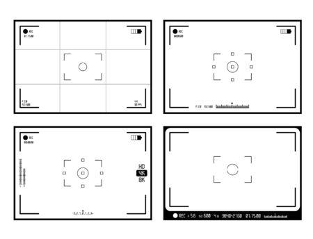 Video Camera Viewfinder Display Vector Banque d'images - 140091788