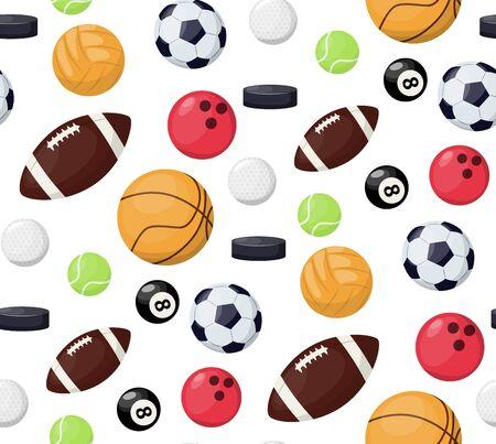Balls, seamless pattern sport soccer background vector illustration.
