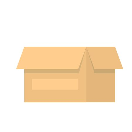 Package Box Opened vector illustration