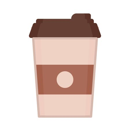 Take-out coffee with brown cap and cup holder
