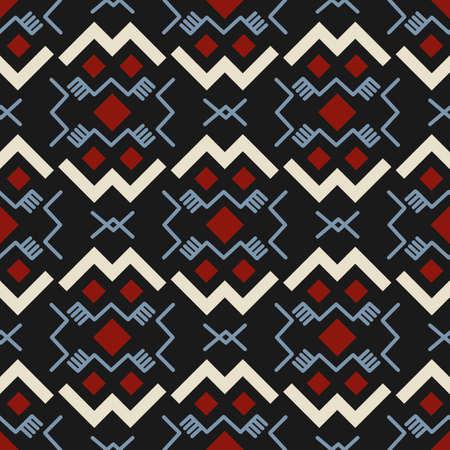 Aztecs seamless pattern. Tribal ethnic ornament. Geometric abstract background. 向量圖像