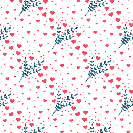 Heart seamless pattern. Valentines day background. Vector illustration
