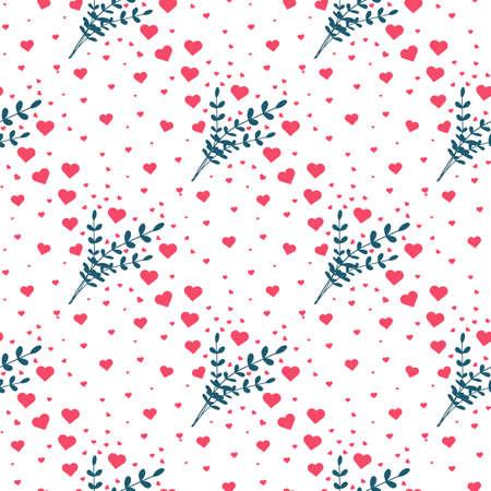 Heart seamless pattern. Valentines day background. Vector illustration Foto de archivo - 168192968