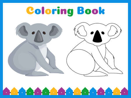Coloring book for preschool kids with easy educational gaming level. Coloring page preschool activity. Kindergarten printable worksheet. Hand drawn homeschooling colour practice.