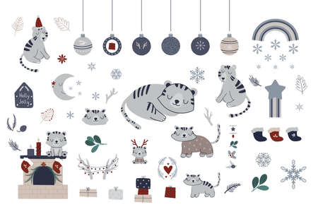 Tiger Christmas Scandinavian collection.