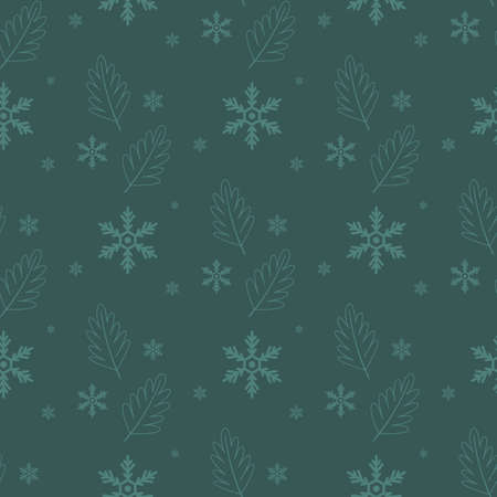 Christmas seamless background with snowflakes. Festive new year holiday seamless pattern.