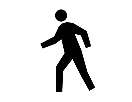 Silhouette of a man in motion on a white background Standard-Bild - 147823841