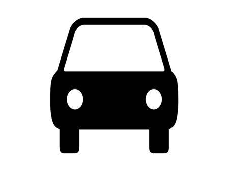 Black car on a white background. Silhouette Archivio Fotografico