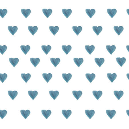 Blue hearts. Simple seamless children's pattern for fashionable prints, textiles, wallpaper, pillows, curtains, phone cases. Standard-Bild