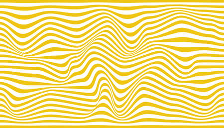 Abstract background of wavy yellow lines. Vector illustration. Stock Illustratie