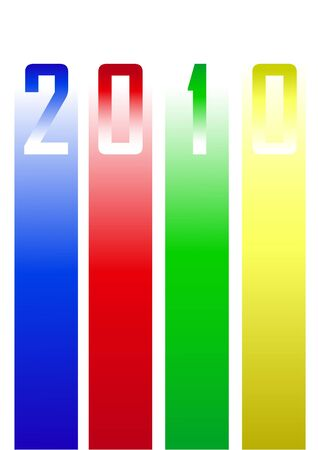 Colors new year 2010 background Stock Vector - 6586977
