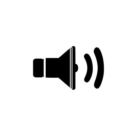 Speaker sound vector icon isolated on white background Illustration