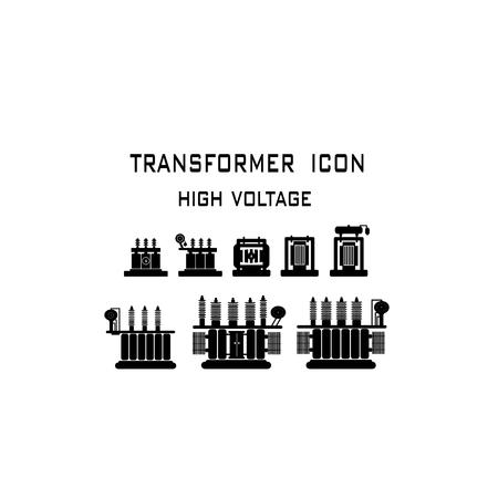 Transformateur haute tension sur fond blanc.