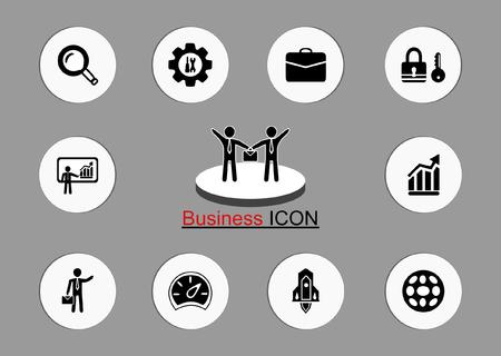 business icon, vector. Standard-Bild - 109058705