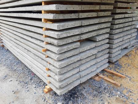 Grey concrete slabs preparing for building Standard-Bild - 122132245