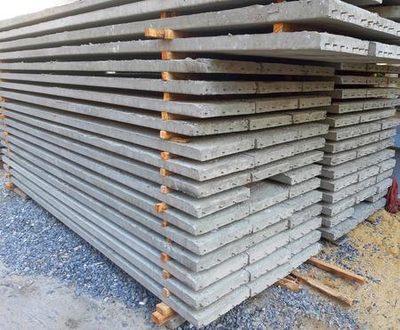 Grey concrete slabs preparing for building Standard-Bild - 122132302