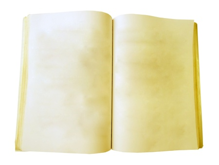 Old Notebook in White Backgroud                          photo