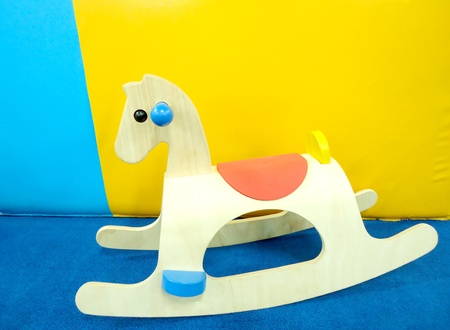 Wooden rocking horse chair toys                              photo