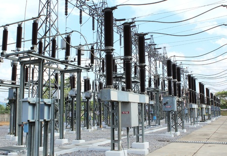 high voltage: Power station for electrical Industry