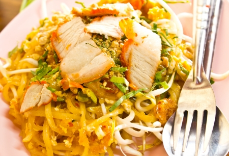 Pad Thai, Thai noodle style photo