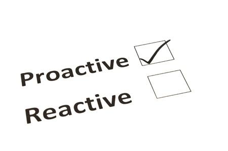 Chalk drawing - Proactive or Reactive concept Stok Fotoğraf