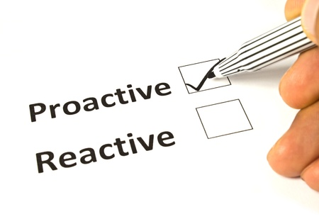 Chalk drawing - Reactive or proactive concept Stok Fotoğraf