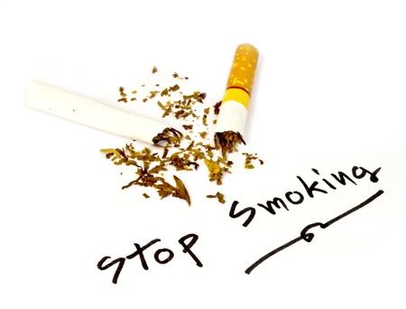 smocking: Written stop smoking, please stop smocking, now