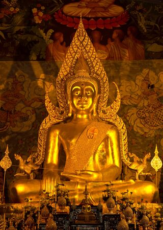 Wat Phra That Cho Hae Temple, Phare - Thailand  The Most Beautiful Buddha Statue in Thailand  photo