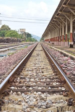 Railway tracks in a rural scene Stock Photo - 15584453