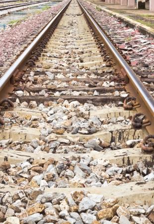 Railway tracks in a rural scene Stock Photo - 15584456