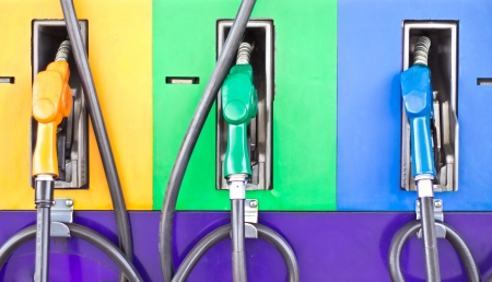 Colorful fuel oil gasoline dispenser at petrol filling station Stock Photo - 15713068