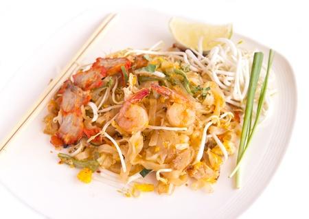 Thai food Pad thai , Stir fry noodles with shrimp Stock Photo - 16167624