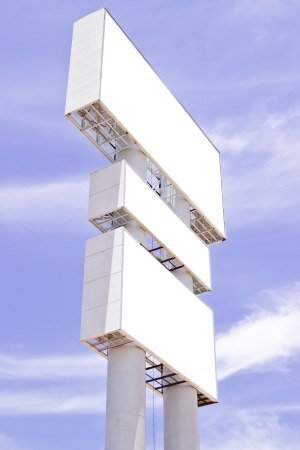 Billboard structure and blue sky photo