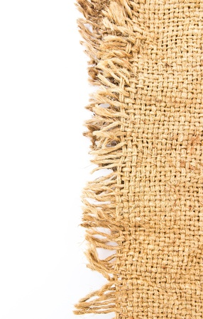 Perfect old cloth sack isolated on white background