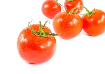 Fresh red tomato isolated on white background Stock Photo