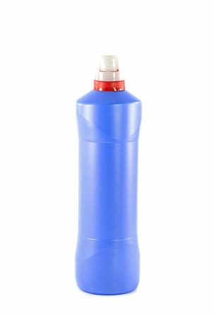 Toilet cleaner bottle isolated on white Stok Fotoğraf - 28588809