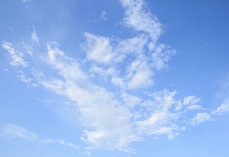 Cloudscape with white clouds and blue sky Stock Photo - 35413486