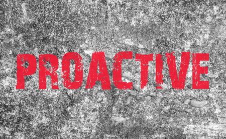 progressive art: Proactive Concept text on grunge texture background Stock Photo