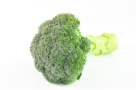 Fresh broccoli cabbage on a white background